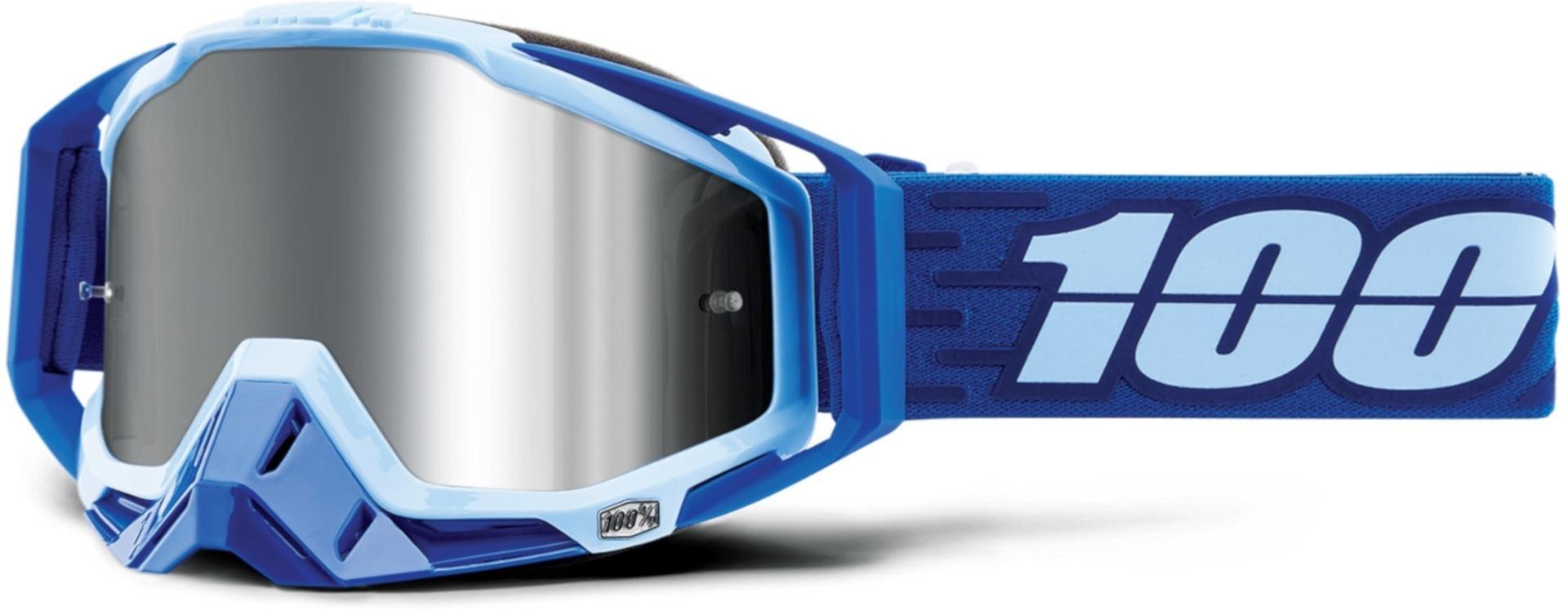 100% Racecraft Plus Rodion Motocross Brille Blau Einheitsgröße