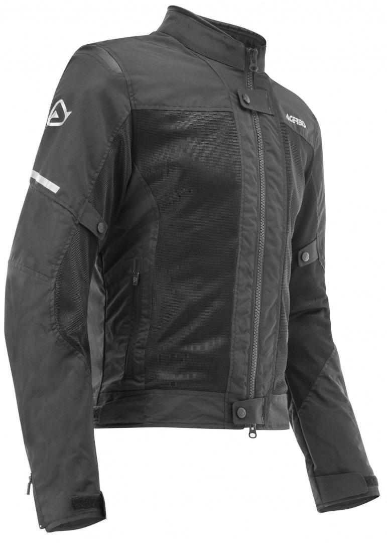 Acerbis Ramsey Vented Motorrad Textiljacke, schwarz, Größe S, schwarz, Größe S