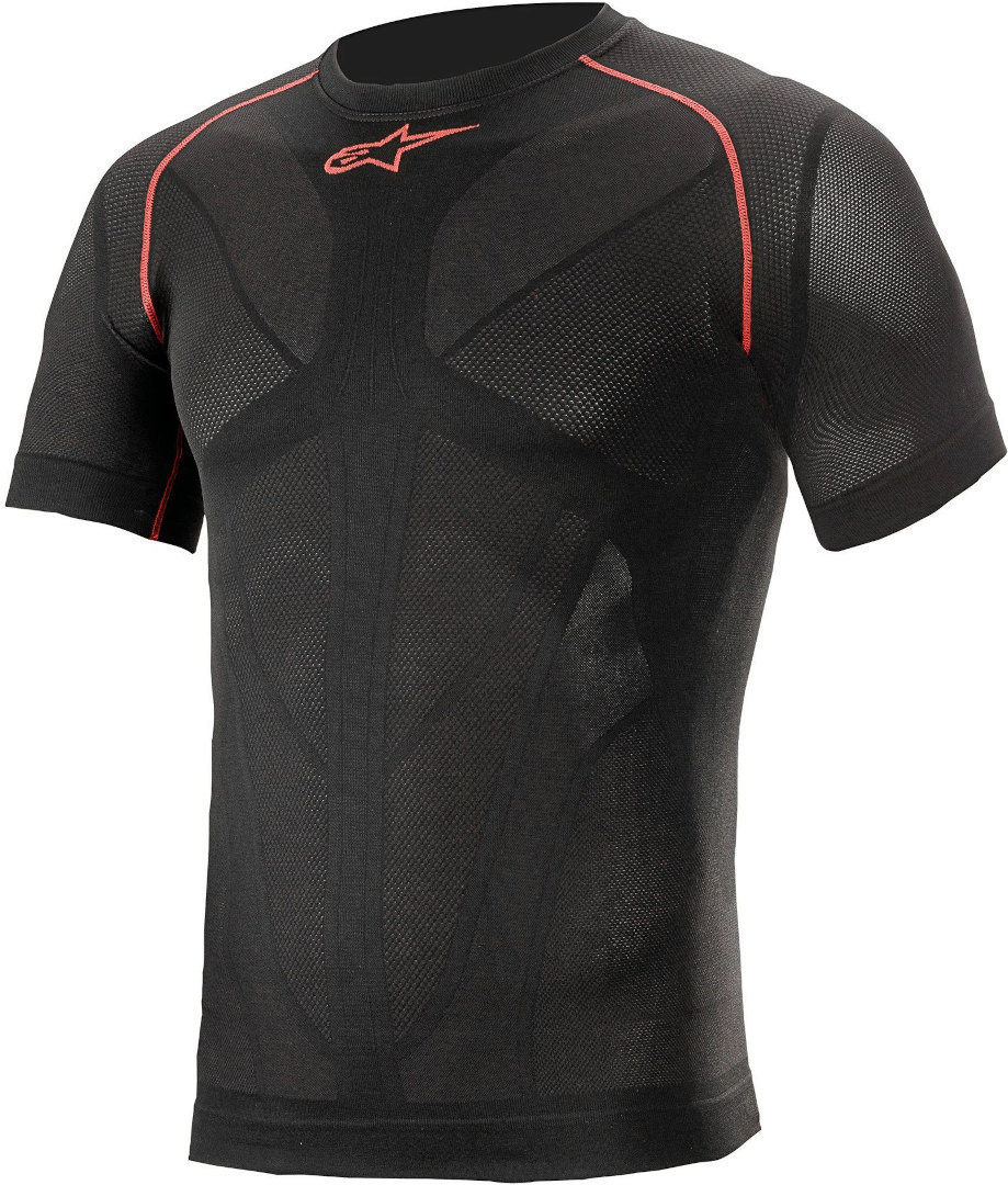 Alpinestars Ride Tech V2 Funktionsshirt, schwarz-rot, Größe XS S, schwarz-rot, Größe XS S