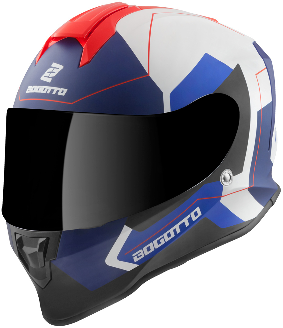 Bogotto V151 Sacro Helm, weiss-rot-blau, Größe XS, weiss-rot-blau, Größe XS