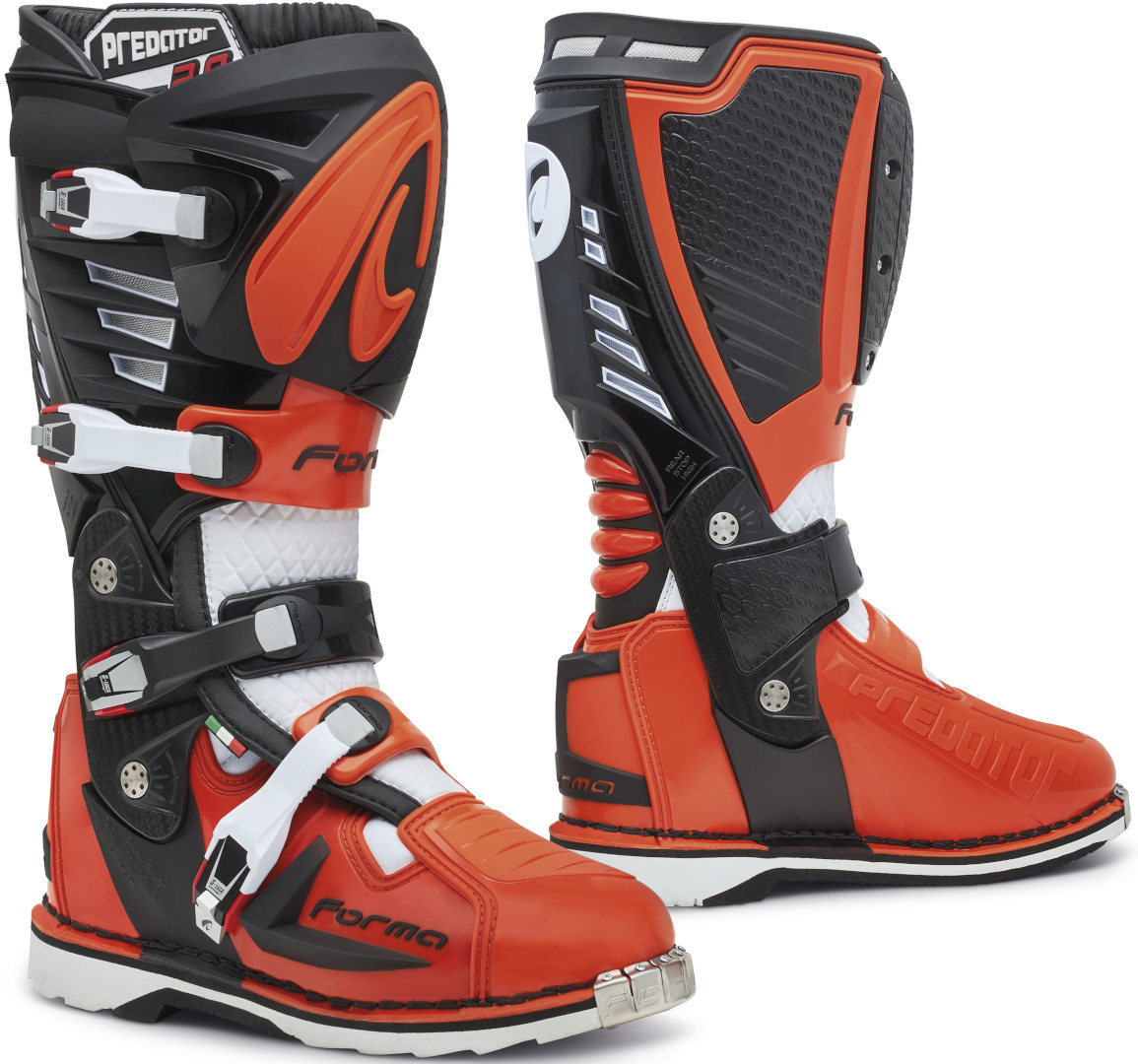 Forma Predator 2.0 Motocross Stiefel, schwarz-weiss-orange, Größe 42, schwarz-weiss-orange, Größe 42