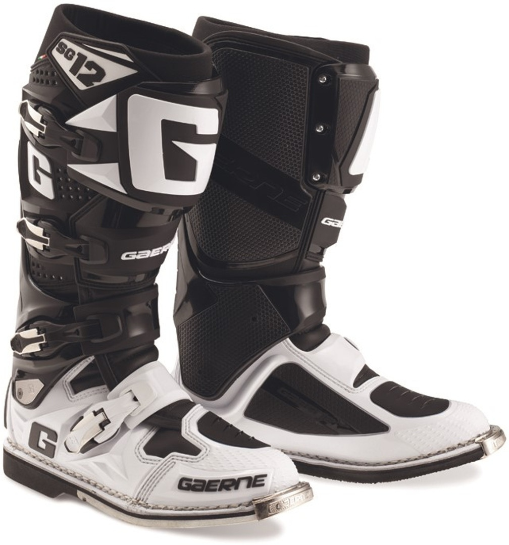 Gaerne SG-12 Limited Edition Motocross Stiefel, schwarz-weiss, Größe 41, schwarz-weiss, Größe 41