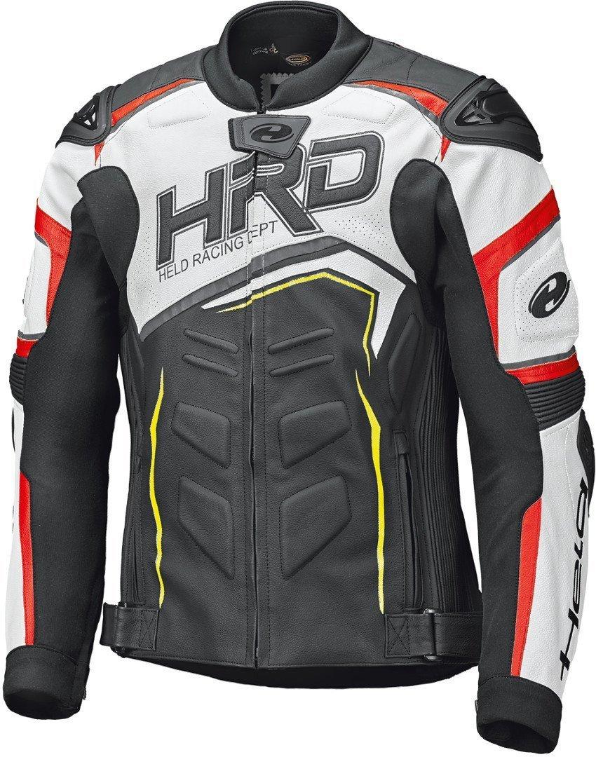 Held Safer II Motorrad Lederjacke, schwarz-weiss-rot, Größe 48, schwarz-weiss-rot, Größe 48