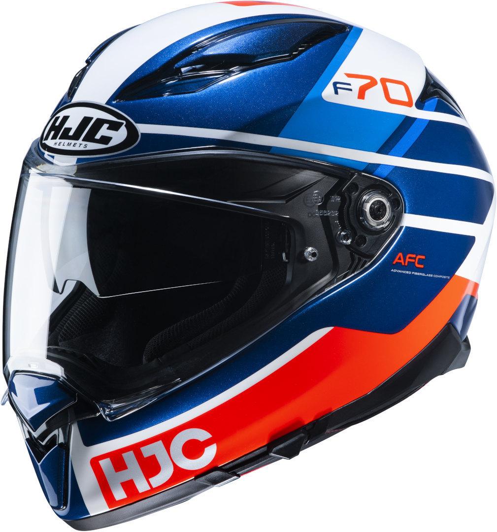 HJC F70 Tino Helm, weiss-rot-blau, Größe XS, weiss-rot-blau, Größe XS